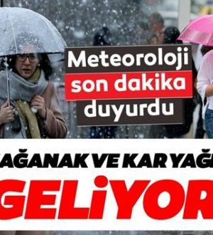 Meteoroloji'den uyarı geldi ! Sondakika uyarısı Sağanak yağış ve kar geliyor