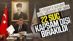 Cumhurbaşkanı Erdoğan'a sunulan İnfaz düzenlemesi şekillendi