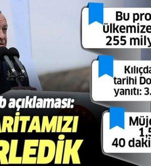 Başkan,Tayyip Erdoğan'dan Menemen-Aliağa-Çandarlı Otoyolu açılışında