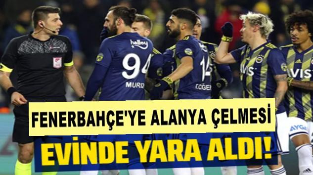 Fenerbahçe, Kadıköy'de Alanyaspor ile yenişemedi!