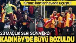 Galatasaray, Fenerbahçe'yi Kadköy'de 21 yıl sonra yendi