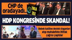 HDP kongresinde teröristbaşı Abdullah Öcalan'a destek sloganları!