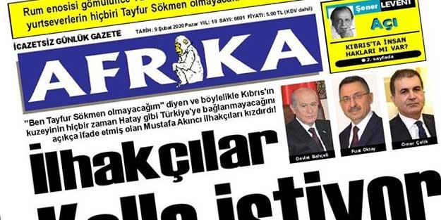 KKTC Gazetesinden Türkiye'ye skandal küfür!