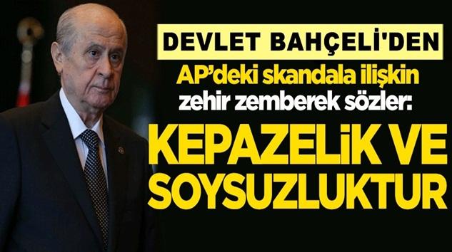 MHP lideri Devlet Bahçeli'den AP'ye zehir zemberek sözler