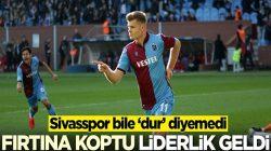 Trabzonspor, Sivasspor'u da geçerek liderlik koltuğuna oturdu
