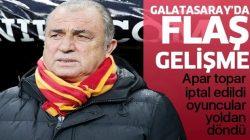 Galatasaray'da şok gelişme! İdman iptal edildi, oyuncular yoldan döndü