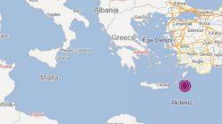 Akdeniz açıklarında korkutan deprem meydana geldi !