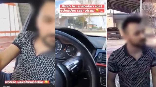 Konya'da Yasağa rağmen aracıyla drift yapan sürücü polise yakalandı