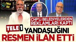 TELE1 yandaşlığını canlı yayında ilan etti: CHP'li belediyeden reklamı kaptı