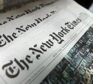 ABD'nin önde gelen gazetelerinden New York Times'tan çarpıcı manşet!
