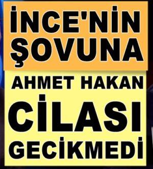 Ahmet Hakan Muharrem ince'nin Haber Global şovuna cila çekti
