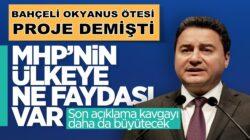 Ali Babacan MHP Lideri Bahçeli'nin Fetö Suçlamalarına yanıt verdi
