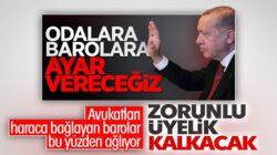 Cumhurbaşkanı Erdoğan'dan kurmaylarına baro düzenlemesi talimatı