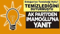 Ekrem İmamoğlu'nun Haliç'i temizledik açıklamasına ak parti'den yanıt