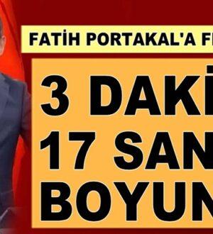 Fatih Portakal'a Kenan Kıran'dan flaş çağrı: 3 dakika 17 saniye boyunca
