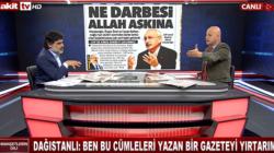 """Fatin Dağıstanlı'dan , Hürriyet'e """"Ben bu cümleleri yazan gazeteyi yırtarım"""""""