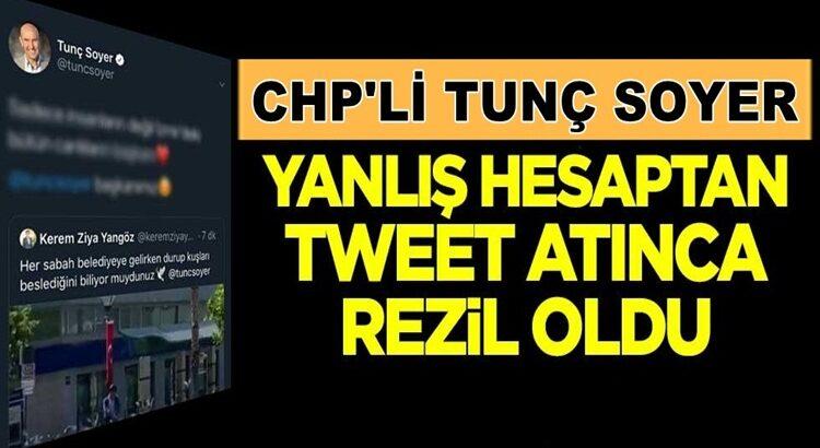 İzmir Belediye Başkanı Tunç Soyer, yanlış hesaptan tweet atınca rezil oldu