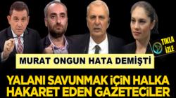 Murat Ongun Hata dedi işte Fazilet Durağı yalanını savunan gazeteciler