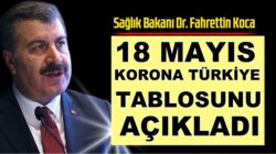 Sağlık Bakanı Fahrettin Koca, 18 Mayıs koronavirüs tablosunu paylaştı