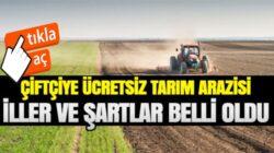 7 Şehirde yaşayan çiftçilere devlet ücretsiz arazi verecek
