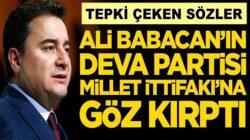 Ali Babacan'ın Deva Partisi Millet İttifakı'yla flört etmeye hazır