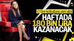 Ebru Gündeş, O Ses Türkiye'den haftada 180 bin tl kazanacak