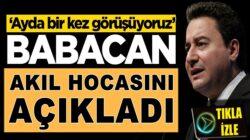 Ali Babacan kimden akıl aldığını açıkladı! 'Ayda bir kez görüşüyoruz'