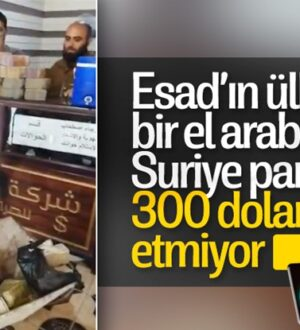 Beşar Esad'ın Suriye'sinde 1 el araba dolusu para 300 dolar etmiyor