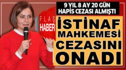 Canan Kaftancıoğlu'nun 5 ayrı suçtan yargılandığı cezalar onandı