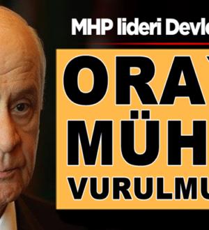 Devlet Bahçeli: Haftanin'e Türk kahramanlığının mührü vurulmuştur