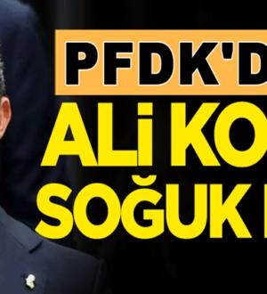 Fenerbahçe Başkanı Ali Koç'a PFDK'dan soğuk duş