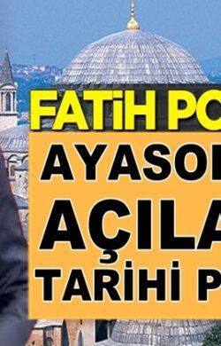 Fox Tv Sunucusu Fatih Portakal, Ayasofya'nın açılacağı tarihi paylaştı