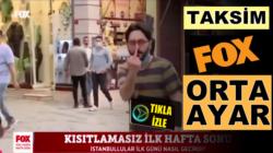 Fox TV'ye Taksim İstiklal caddessinde orta parmak ayarı