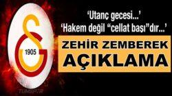 Galatasaray'dan Rizespor maçı sonrası hakemlere çok sert sözler