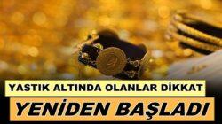 İstanbul Kuyumcular Odası Başkanı Mustafa Atayık, altın üretimi başladı