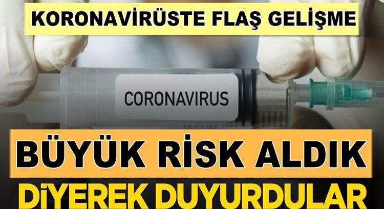 Koronavirüs Aşısını bulduk 'Büyük risk aldık' diyerek duyurdular
