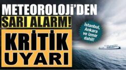 Meteoroloji, İstanbul dahil 25 ile kuvvetli yağış uyarısı