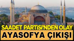 Saadet Partisi İstanbul İl Başkanı Abdullah Sevim'den olay Ayasofya çıkışı
