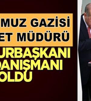 TEM Daire Başkanı Turgut Aslan, Cumhurbaşkanı Başdanışmanı oldu