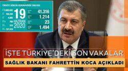 Türkiye Koronavirüs 19 Haziran verilerini Bakan Koca Açıkladı