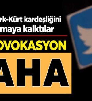 Türkiye'de Şimdi de Türk-Kürt kardeşliğini hedef almaya kalktılar