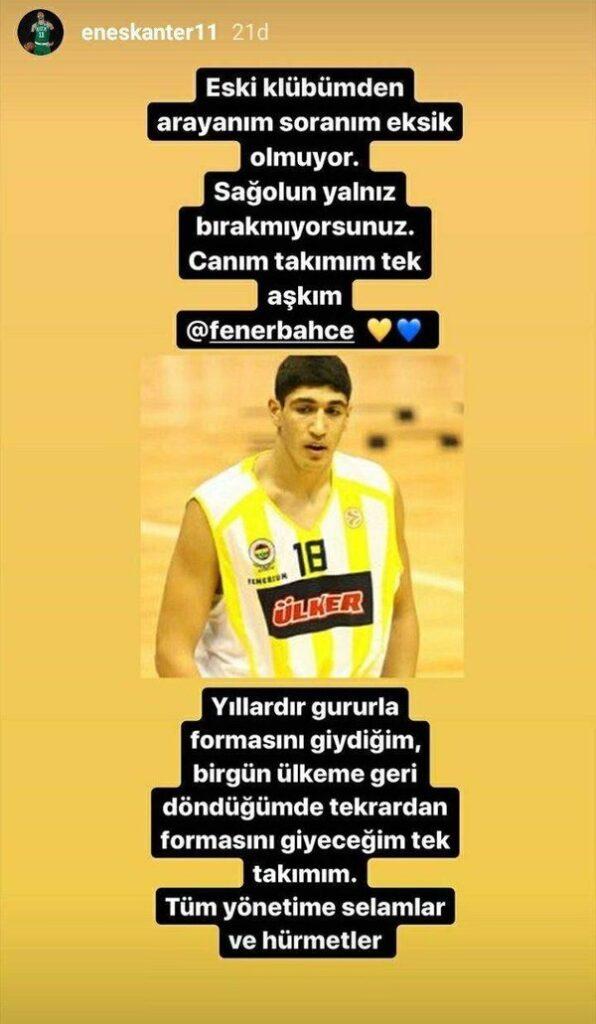 Bugün yaptığı paylaşımla Fenerbahçe'den arayanı ve soranı olduğunu iddia eden FETÖ'cü hain Enes Kanter'e, sarı-lacivertli kulüpten tokat gibi bir cevap geldi. Fenerbahçe, internet sitesinden yaptığı açıklamada kendini yamamaya çalışan Kanter'e kulübün kapılarının sonuna kadar kapalı olacağını belirtti.