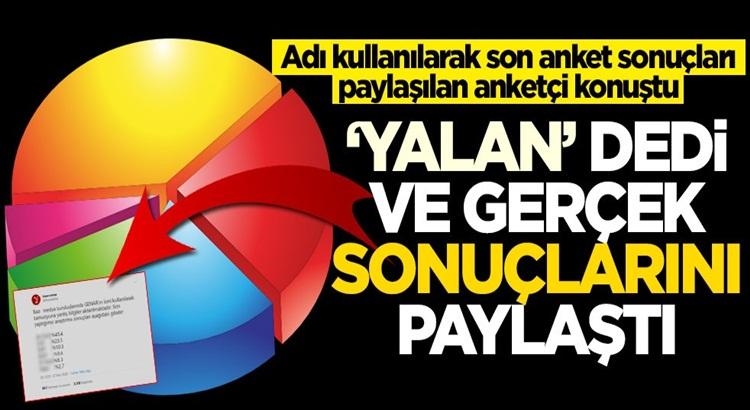 Genar Başkanı İhsan Aktaş konuştu! Anket sonuçlarını açıkladı