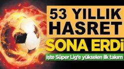 Hatayspor, Adanaspor'u yenerek tarihinde ilk kez Süper Lig'e çıktı