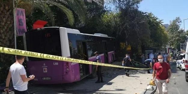 İstanbul, Kadıköy'de freni patlayan İETT otobüsü iş yerine daldı