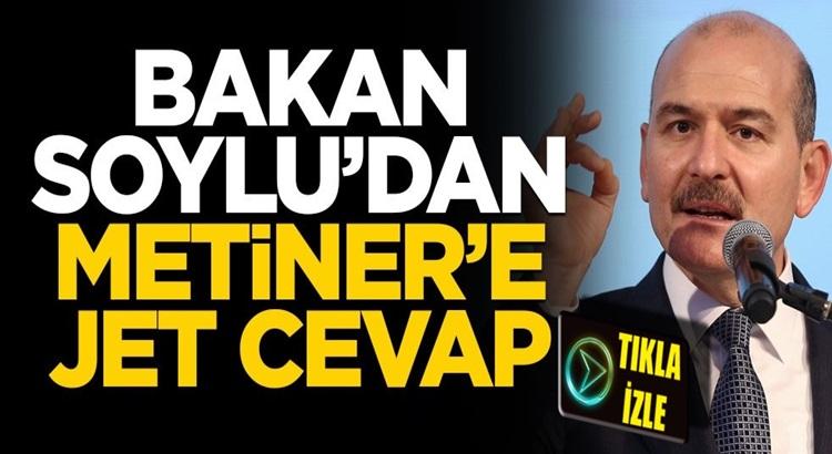 Mehmet Metiner'in açıklamasına Süleyman Soylu'dan jet yanıt!