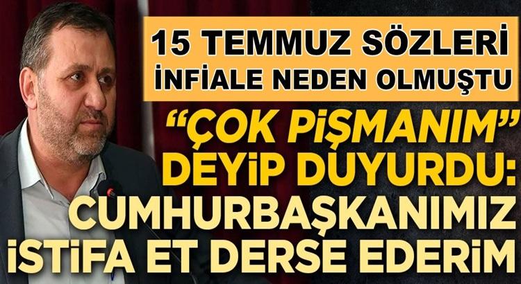Türk Tarih Kurumu Başkanı Ahmet Yaramış, çok pişman olduğunu belirttti