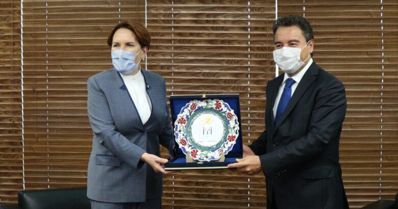 Ali Babacan'a İyi Parti Lideri Meral Akşener'den ittifak ziyareti