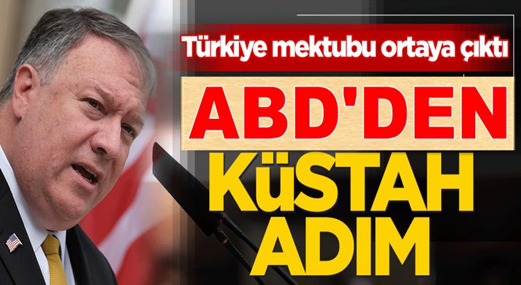 Amerika'dan küstah adım! Yunanistan'a Türkiye mektubu ortaya çıktı