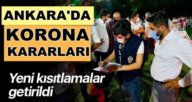 Ankara'da yeni koronavirüs kısıtlamaları kararları açıklandı